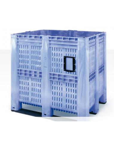 Caisse palette plastique 1300x1150x1250 – Ajourée