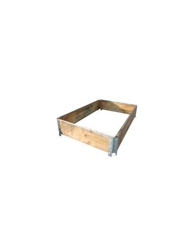 Réhausse palette bois pliante 1200x800 mm en vente sur palettes.fr