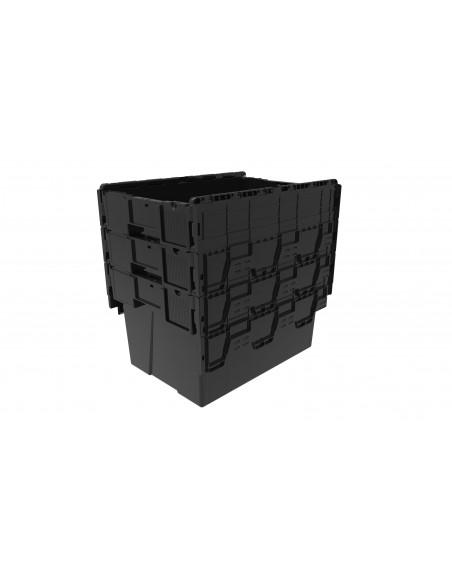 Bac gerbable et emboîtable avec couvercle 600x400x365 mm