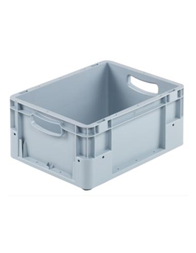 Bac plastique gris normes Europe 400 x 300 x 180 mm