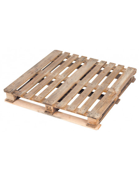 Palette chimique en bois CP9 d'occasion de dimensions 1140x1140x156 mm