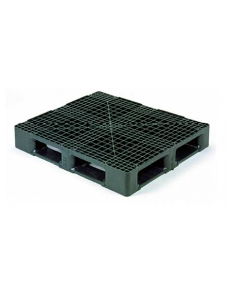 Palette en plastique pour charges lourdes, dimensions 1200x1000 mm