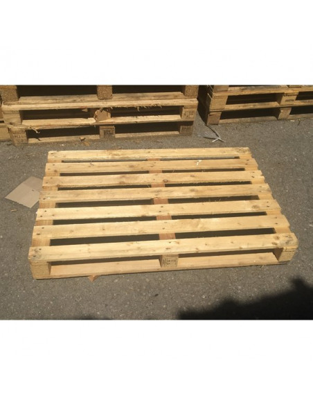 Palette bois occasion perdue 800x1200 moyenne 3 semelles - 750 kg de charge - Palettes.fr