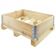 Réhausse bois pliante- 4 charnières – 800 x 600 x 200 - Palettes.fr