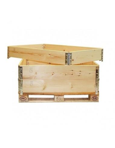 Réhausse bois pliante – 4 charnières – 1200x800x200 mm - palettes.fr