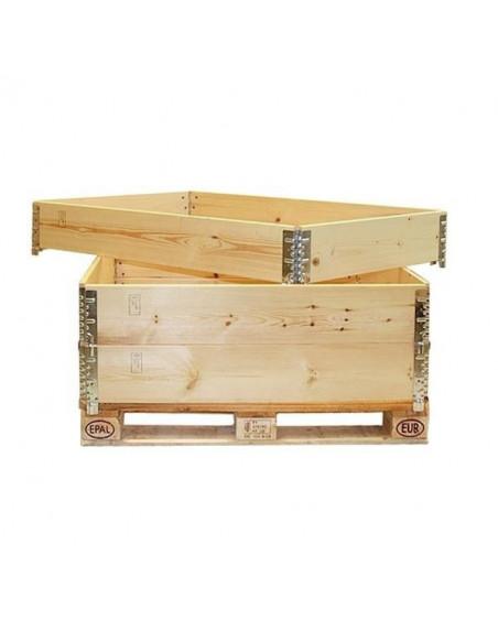 Réhausse palettes bois pliante – 4 charnières – 1200x800x200 mm - palettes.fr