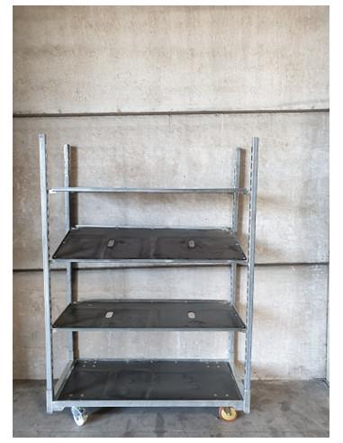 Chariot danois occasion - 3 étagères - Palettes.fr