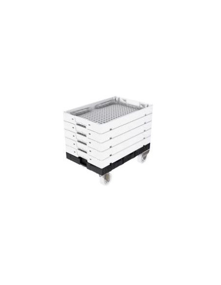 Caisse transparente pliable 600x400 mm - Palettes.fr