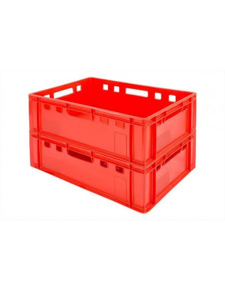 Bacs plastique E2 600x400x200 mm - Empilable - Bacs alimentaires - Palettes.fr