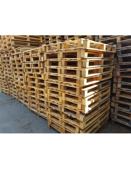 Palette bois occasion 1000x1200 3 semelles - 450 kg - Palettes.fr