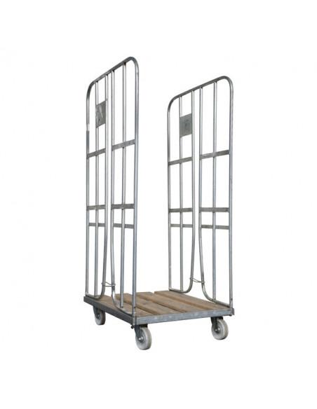Roll-conteneur 2 côtés base bois - Chariots rolls - Palettes.fr