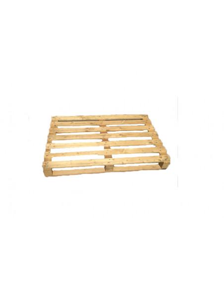 Palette bois occasion perdue 800x1200 moyenne 3 semelles - 750 kg de charge - Palettes.f