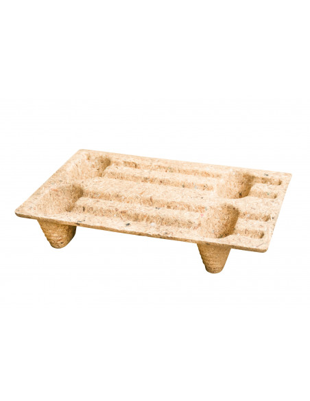 Palette 600x400 en fibre de bois pour l'exportation et le transport en vente sur Palettes.fr